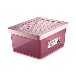 Organizador-Plastico-Multiuso-Grande-Alto-Rose-18L-Hana-Ordene-still