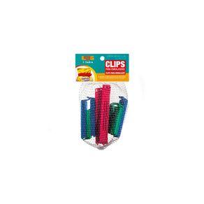 Prendedor-para-Embalagens-Plastico-Azul-Vermelho-Verde-Pequeno-Medio-Grande-Log-Ordene-9-Pecas-embalagem