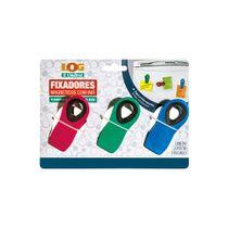Kit-Fixador-Magnetico-Plastico-com-Ima-Azul-Vermelho-Verde-Log-Ordene-3-Pecas-embalagem
