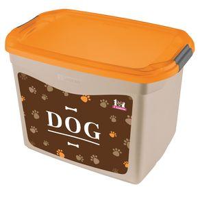 Organizador-Plastico-para-Cachorro-Bege-Laranja-11L-Pet-Sanremo-still