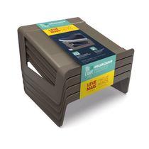 Organizador-para-Calcados-Plastico-para-8-Pares-Castor-My-Closet-Ordene-Leve-Mais-Pague-Menos-embalagem