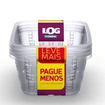 Cesto-Organizador-Plastico-com-Furacao-Cristal-14L-Log-Ordene-Leve-Mais-Pague-Menos-embalagem
