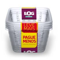 Cesto-Organizador-Plastico-com-Furacao-Cristal-3L-Log-Ordene-Leve-Mais-Pague-Menos-embalagem